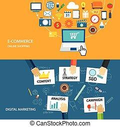 lejlighed, e-commerce, konstruktion, digitale, markedsføring