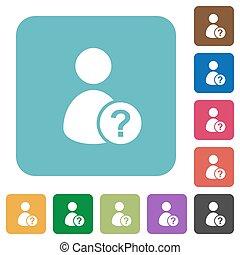 lejlighed, firkantet, rounded, iconerne, uvidst, bruger