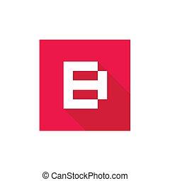lejlighed, firmanavnet, b, illustration, vektor, brev, logo, konstruktion, ikon