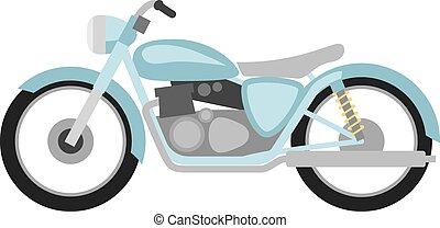 lejlighed, firmanavnet, retro, motorcycle