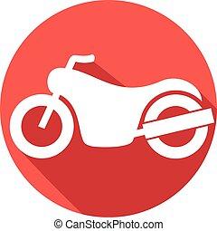 lejlighed, motorcycle, ikon