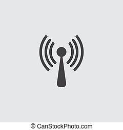 lejlighed, netværk, zone, wifi, konstruktion, ikon internet