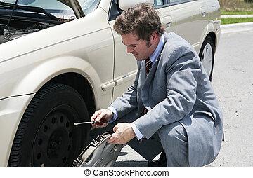 lejlighed trætt, -, fjerne, hubcap