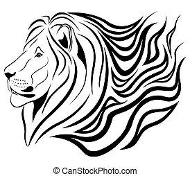 lejon, brännande