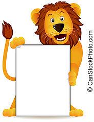 lejon, och, baner