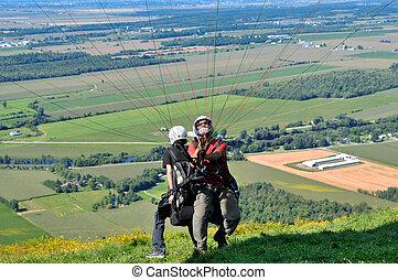 lejos, paragliders