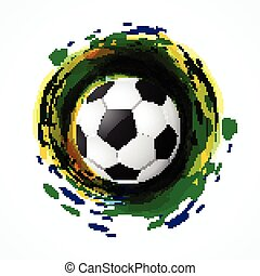 lek, fotboll, smutsa ner