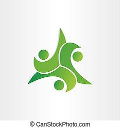leka, symbol, teamwork, ikon, dans, lurar