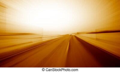 lekka szybkość, podróż, w, ognisty, kolor