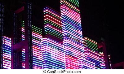 lekki, 2, neon, noc