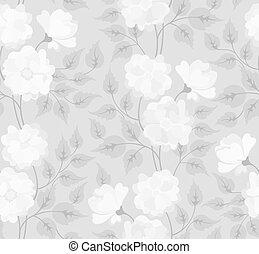 lekki, abstrakcyjny, seamless, kwiat, tło