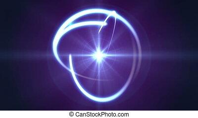 lekki, atom, promień, orbita, abstrakcyjny
