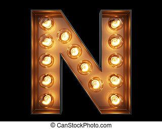 lekki, litera, n, alfabet, bulwa, chrzcielnica