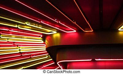 lekki, neon, noc
