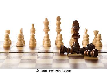 lekki, pojęcie, -, zwycięstwo, strategia