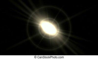 lekkie promienie, oślepiający, aureola