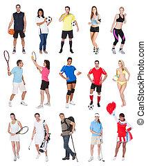 lekkoatletyka, różny, ludzie