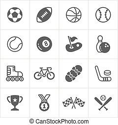 lekkoatletyka, trensy, płaski, icons., wektor