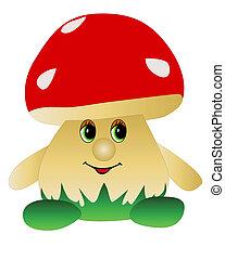 leksak, in, den, bilda, av, den, svamp