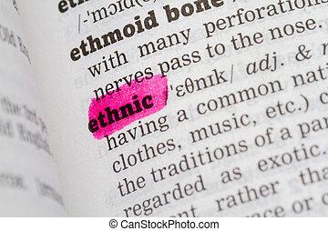 leksikon, definition, etniske