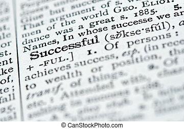 leksikon, definition, -, succesrige