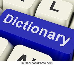 leksikon, nøgle, show, online, eller, væv, definition,...
