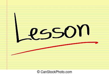 lektion, begriff