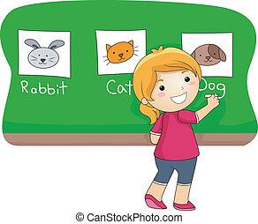 lektion, djur