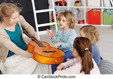 lektion, lurar, musik