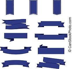 lem, dát, do, blue., lem, banner., vektor, ilustrace, eps10
