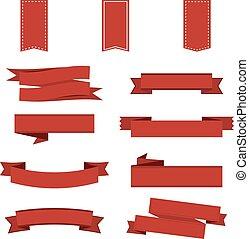 lem, dát, do, red., lem, banner., vektor, ilustrace, eps10