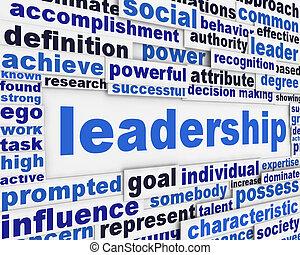 lema, cartel, liderazgo, diseño