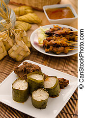 lemak lemang ,malay food during festival of hari raya