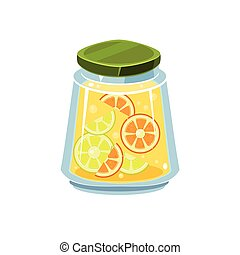 Leman Jam  In Transparent Jar