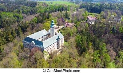 Lemberk Castle aerial drone footage