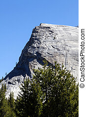 Lembert Dome Yosemite California Against Blue Sky