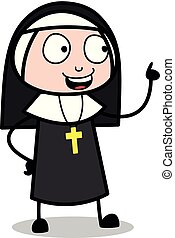 lembrar, -, freira, conversação, enquanto, vetorial, ...