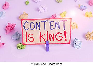 lembrete, letra, papeis, pago, focalizado, conceito, chão, resultados, conteúdo, colorido, marketing, texto, king., branca, crescendo, visibilidade, non, amarrotado, significado, clothespin., fundo, busca, vazio