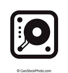 lemezjátszó, zene, ikon