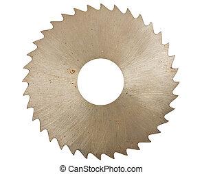 lemmet, hout, zaag, circulaire