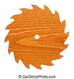 lemmet, pijnboom hout, t, zaag, circulaire