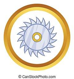 lemmet, vector, zaag, circulaire, pictogram
