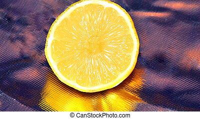 Lemon abstract.