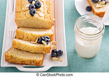 Lemon and almond pound cake - Lemon blueberry pound cake...