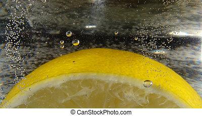 Lemon and bubbles