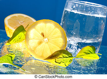 Lemon and glass of water