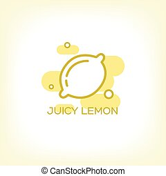 Lemon and healthy fruit design logo