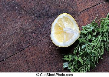 Lemon and herbs