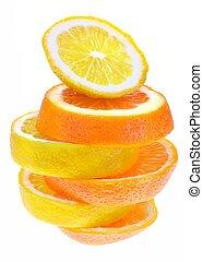Lemon and orange slices