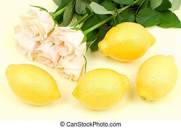 Lemon and rose